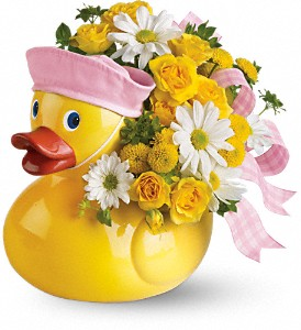 Teleflora's Ducky Delight - Girl in Corpus Christi TX, Tubbs of Flowers