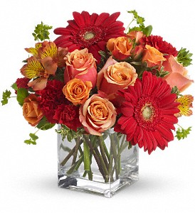 Santa Fe Sunset Bouquet by Teleflora in New Port Richey FL, Holiday Florist