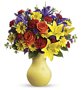 Start the Party Bouquet by Teleflora in Sycamore IL, Kar-Fre Flowers