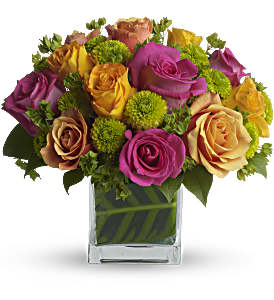 Teleflora's Color Me Rosy Bouquet in Miami Beach FL, Abbott Florist
