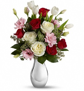 Teleflora's Love Forever Bouquet with Red Roses in Mount Morris MI, June's Floral Company & Fruit Bouquets