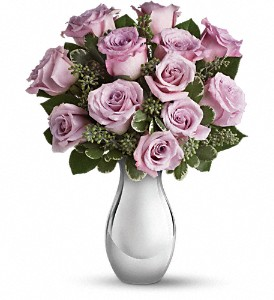 Teleflora's Roses and Moonlight Bouquet in Houston TX, Village Greenery & Flowers