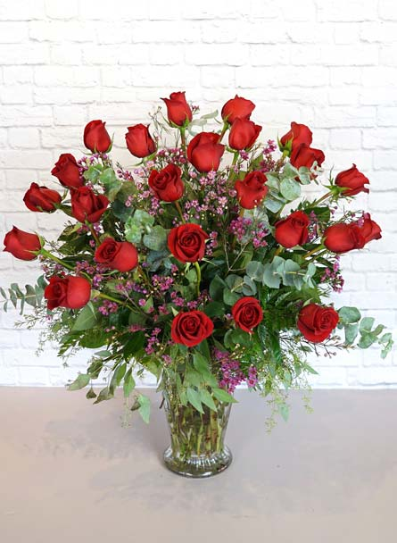 Two Dozen Premium Red Roses in Raleigh NC, Bedford Blooms & Gifts