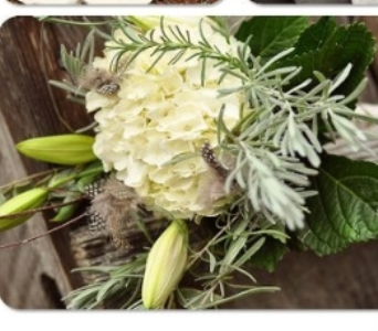 Hydrangea & Rosemary Wedding in Knoxville TN, The Flower Pot