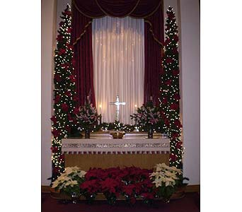 A CHRISTMAS ALTAR in Hanover PA, Country Manor Florist
