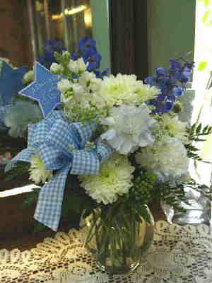 Baby Boy Blue Bouquet in Stephens City VA, The Flower Center