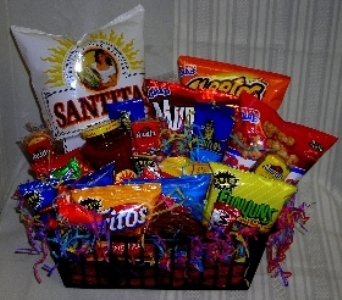 Snack Food Basket in Poplar Bluff MO, Rob's Flowers & Gifts