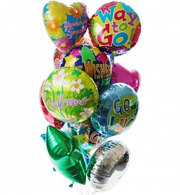 Mylar Balloon Bouquet in Arlington VA, Twin Towers Florist