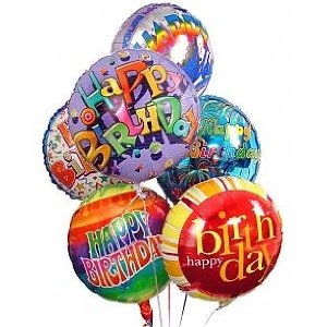 Birthday Mylar Balloon Bouquet in Arlington VA, Twin Towers Florist