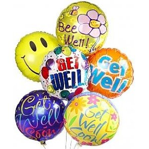 Get Well Mylar Balloons in Arlington VA, Twin Towers Florist