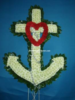 FAITH, HOPE AND HONOR CROSS in Jersey City NJ, Entenmann's Florist