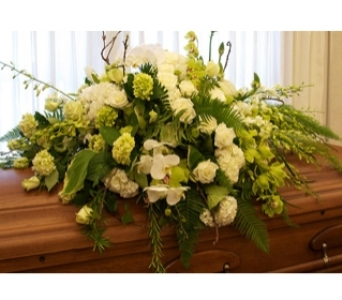 Elegantly Irish Casket Spray in Royal Oak MI, Irish Rose