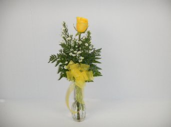 Yellow Rose Vase in Camden AR, Camden Flower Shop