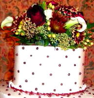 Burgundy and Dots in Waukegan IL, Larsen Florist