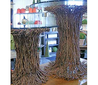 Twig Tables in Oshkosh WI, House of Flowers