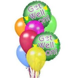 Get Well Balloon Bouquet in Indianapolis IN, George Thomas Florist