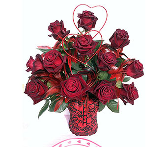 Sweet & Spicy Valentine in Huntington NY, Queen Anne Flowers, Inc