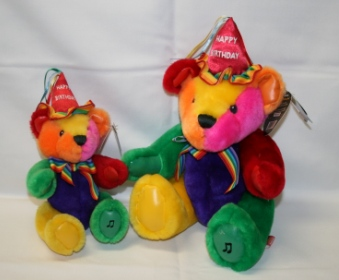 BRIGHT COLORED BIRTHDAY BEAR in Lebanon OH, Aretz Designs Uniquely Yours