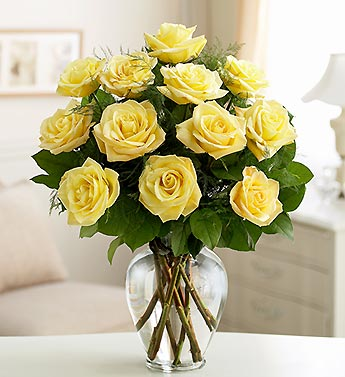 Dozen Premium Long Stem Yellow Roses in Indianapolis IN, George Thomas Florist