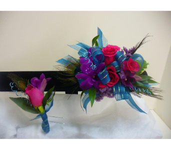 Prom Wristlet Dendrobium Orchids & Roses in Utica NY, Chester's Flower Shop And Greenhouses