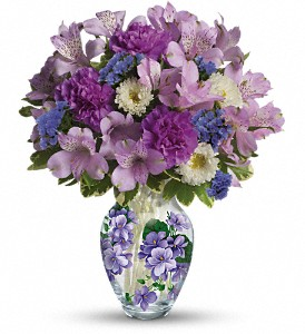 Teleflora's Sweet Violet Bouquet in Columbia IL, Memory Lane Floral & Gifts