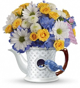 Teleflora's Peek-a-Bird Bouquet in Bayonne NJ, Blooms For You Floral Boutique