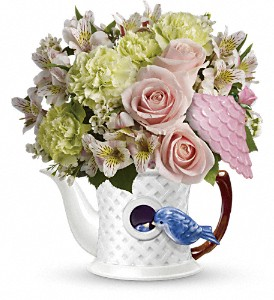 Teleflora's Bluebird Blush Bouquet in Bayonne NJ, Blooms For You Floral Boutique