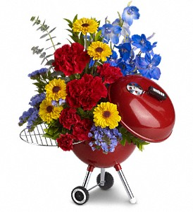 WEBER King of the Grill by Teleflora in Independence OH, Nikki's 21 Blooms
