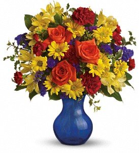 Teleflora's Three Cheers for You! in Lemont IL, Royal Petals