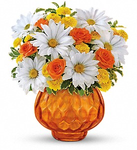 Teleflora's Rise and Sunshine in Visalia CA, Creative Flowers