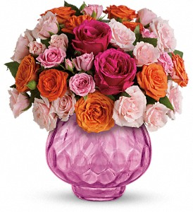 Teleflora's Sweet Fire Bouquet with Roses in San Jose CA, Rosies & Posies Downtown