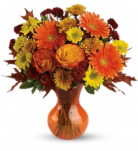 Teleflora's Forever Fall in Houston TX, Village Greenery & Flowers