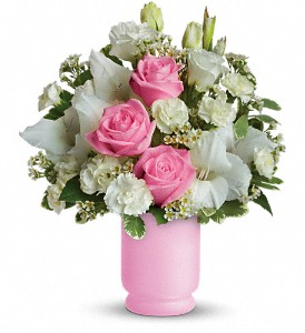 Teleflora's Pink and White Delight in Rock Island IL, Colman Florist
