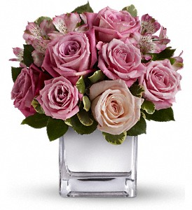 Teleflora's Rose Rendezvous Bouquet in Houston TX, Village Greenery & Flowers