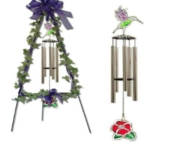 Large Hummingbird Wind Chime in Shelbyville KY, Flowers By Sharon