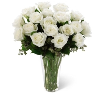 18 white roses bouquet in Scarborough ON, Helen Blakey Flowers