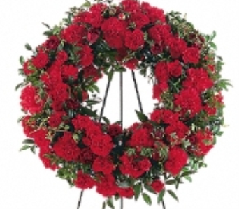 Red Regards Wreath in Scarborough ON, Helen Blakey Flowers