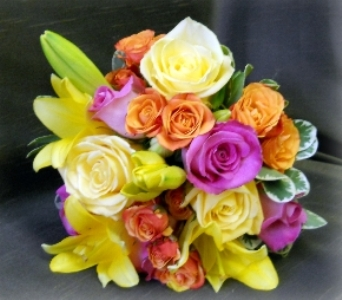 Spring Colored Boquet in Staten Island NY, Kitty's and Family Florist Inc.