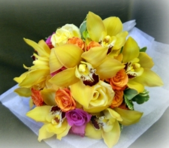 Spring Orchid Boquet in Staten Island NY, Kitty's and Family Florist Inc.