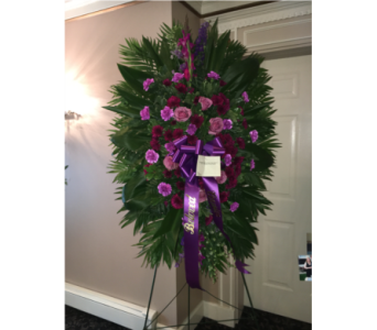 Purple Spray in Staten Island NY, Kitty's and Family Florist Inc.