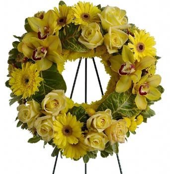 Circle of Sunshine Wreath in McLean VA, MyFlorist