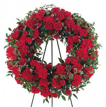 Red Regards Wreath in McLean VA, MyFlorist