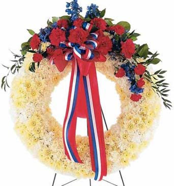 Patriotic Spirit Wreath in McLean VA, MyFlorist