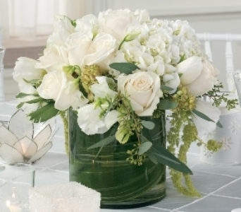 White Centerpiece in Baraboo WI, Wild Apples, LLC