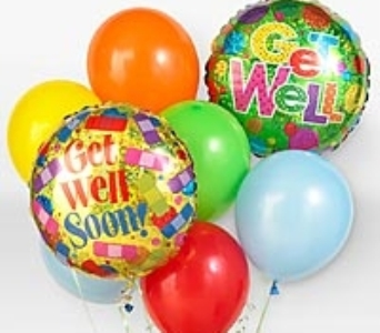 Get Well Balloon Bunch in Lawrence KS, Owens Flower Shop Inc.