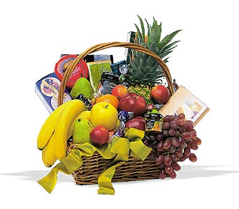 Gourmet Food Basket With Fruit in Cohasset MA, ExoticFlowers.biz