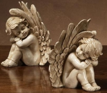 Sitting Cherub in Kokomo IN, Jefferson House Floral, Inc
