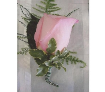 Light Pink Rose Boutonniere in West Bloomfield MI, Happiness is...Flowers & Gifts