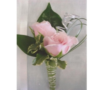 Pink Mini Roses Boutonniere in West Bloomfield MI, Happiness is...Flowers & Gifts