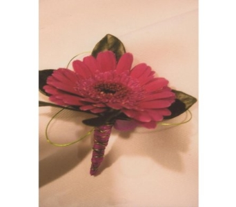 Gerbera Daisy Boutonniere in West Bloomfield MI, Happiness is...Flowers & Gifts